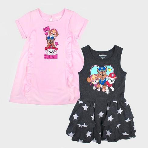 Toddler Girls' 2pk Nickelodeon PAW Patrol Short Sleeve Dress Set Pink