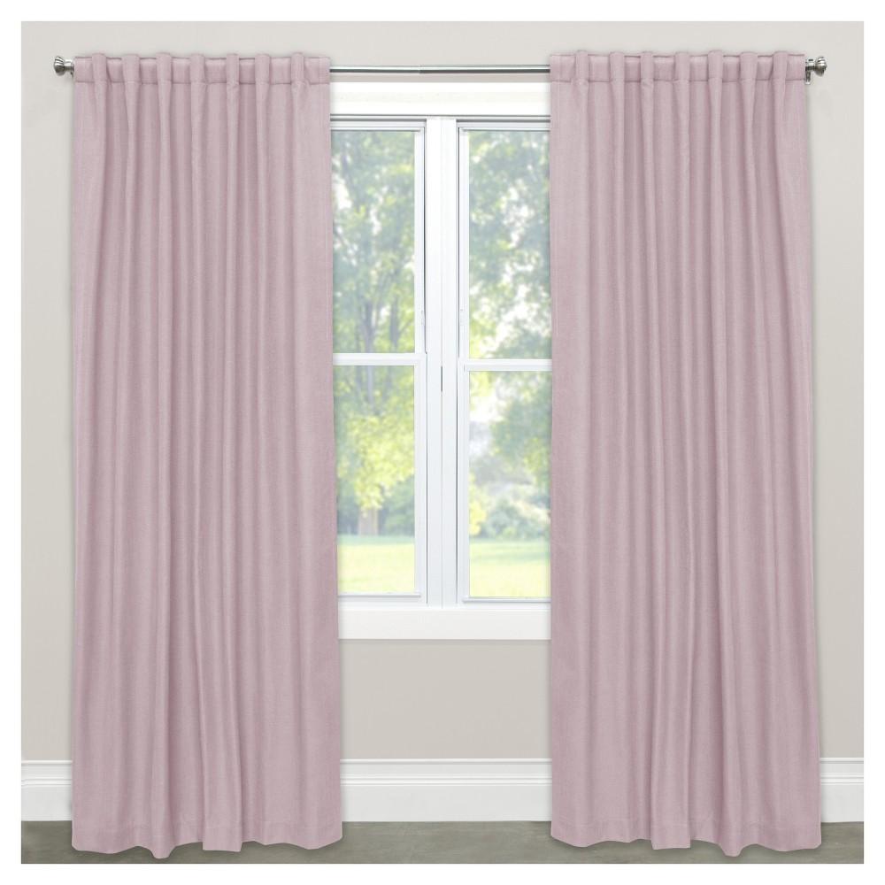 Linen Blackout Curtain Panel Purple (50