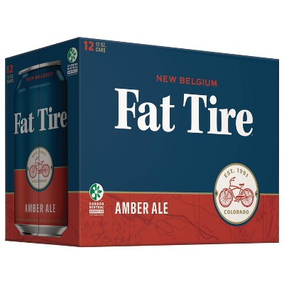 New Belgium Fat Tire Amber Ale Beer - 12pk/12 fl oz Cans