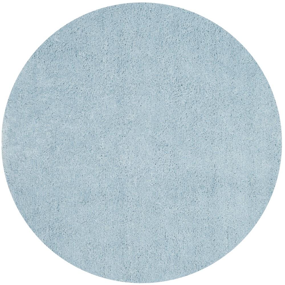 5' Solid Tufted Round Area Rug Light Blue/Light Gray - Safavieh