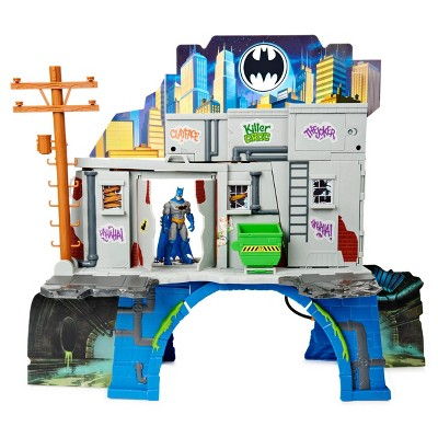 "BATMAN 3-in-1 Batcave Playset with Exclusive 4"" Batman Action Figure and Battle Armor"