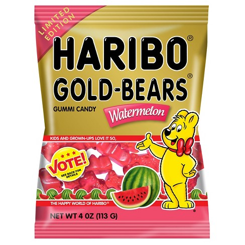 HARIBO Gold-Bears Watermelon Gummi Candy - 4oz - image 1 of 1
