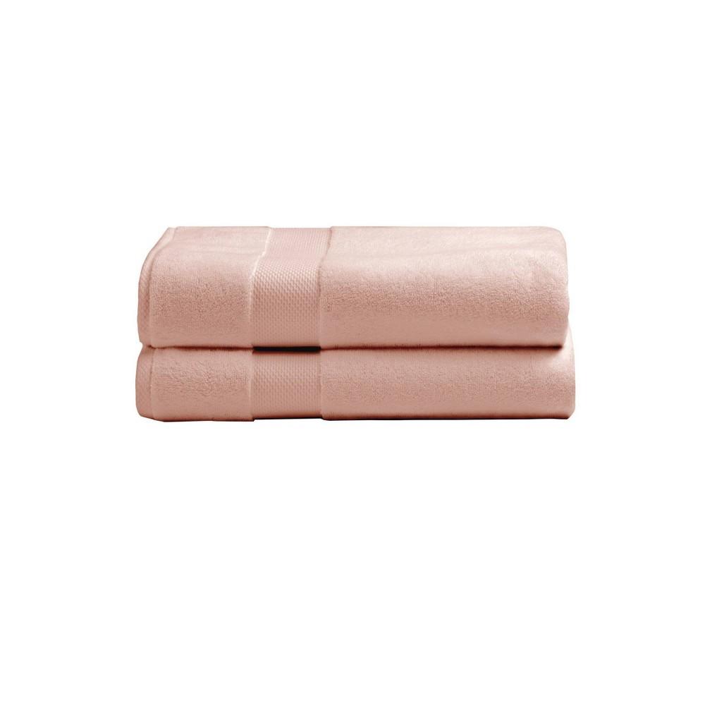 2pk Heritage American Bath Towel Set Blush Charisma