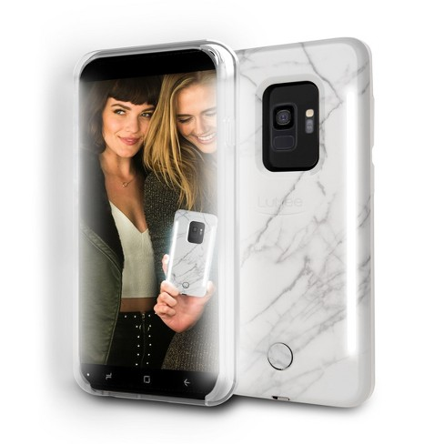 huge selection of 9fe00 e2aca LuMee Samsung Galaxy S9+ Duo Marble Case