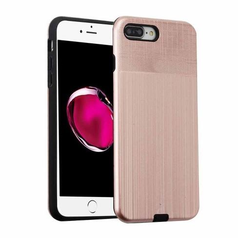 MYBAT For Apple iPhone 7 Plus/8 Plus Rose Gold Black Hard TPU Hybrid Brushed Case - image 1 of 3