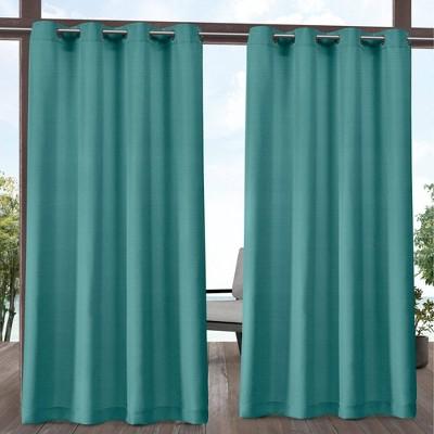 Aztec Indoor/Outdoor Grommet Top Light Filtering Window Curtain Panels - Exclusive Home