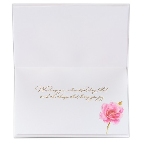 Papyrus Pink Roses Birthday Card Target