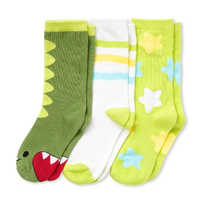 Cubcoats Kids 3-Pack of Dayo the Dinosaur Premium Socks