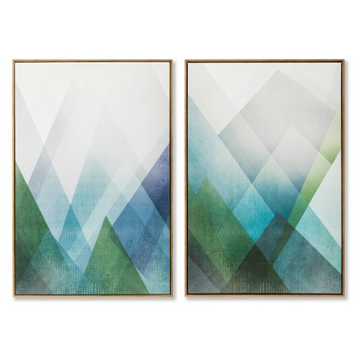 Modern Mountains 2pc Framed Wall Canvas - Project 62™