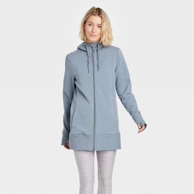 Women's Cozy Fleece Tunic Full Zip Sweatshirt - All in Motion™