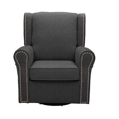 Delta Children® Middleton Nursery Glider Swivel Rocker Chair – Charcoal