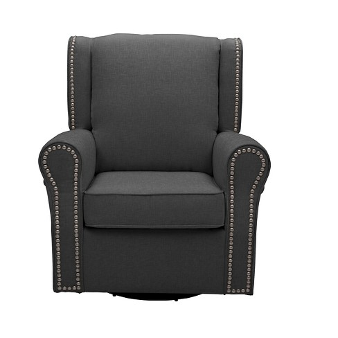 Delta Children® Middleton Nursery Glider Swivel Rocker Chair – Charcoal - image 1 of 4