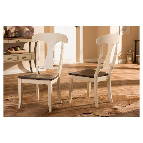 Napoleon Chic Country Cottage Antique Oak Brown Wood Dining Chairs (Set of  2) - Baxton Studio : Target - Napoleon Chic Country Cottage Antique Oak Brown Wood Dining Chairs
