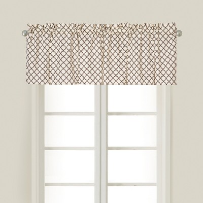 C&F Home Seraphina Brown Cotton Valance Window Treatment