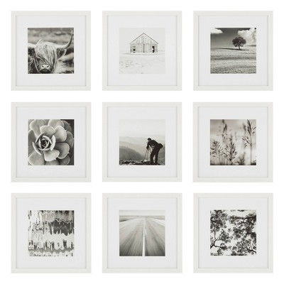 """(Set of 9)12"""" x 12"""" Gallery Grid Kit White - Instapoints"""