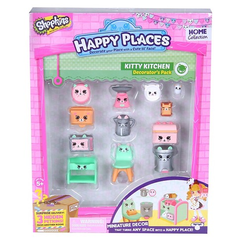 Happy Places Shopkins™ Decorator Pack - Kitty Kitchen - image 1 of 2