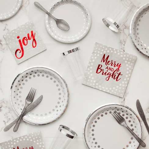 Creative Converting Silver Sparkle And Shine Christmas Party Supplies Kit - image 1 of 1
