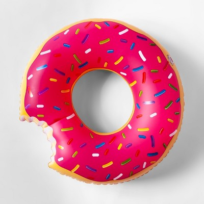 Strawberry Frosted Donut Pool Float Pink - Sun Squad™