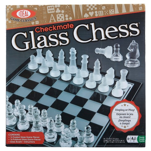 Ideal Checkmate Glass Chess Game Set Target