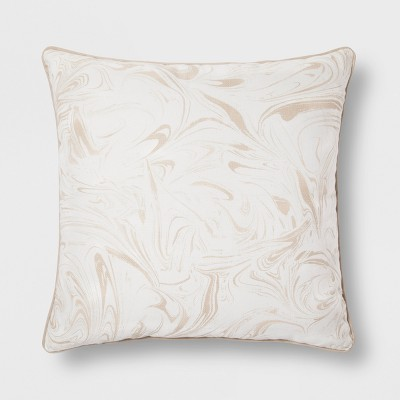 Neutral Marble Oversize Throw Pillow - Room Essentials™