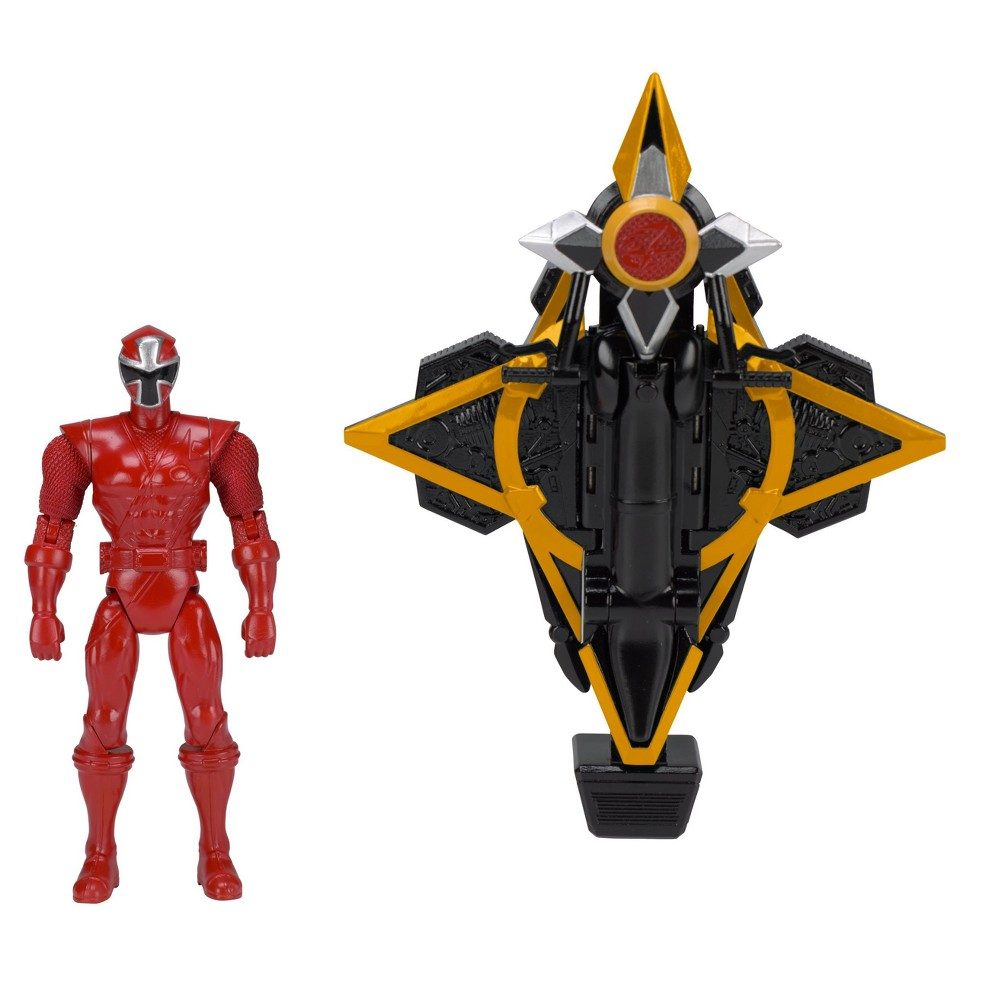 Power Rangers Super Ninja Steel - Power Rangers Mega Morph Cycle with Red Ranger