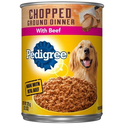 Pedigree Chopped Beef Meaty Ground Dinner Wet Dog Food - 13.2oz - image 1 of 4