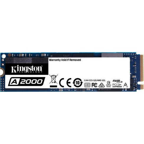 Kingston A2000 250 GB Solid State Drive - M.2 2280 Internal - PCI Express (PCI Express 3.0 x4) - Notebook, Desktop PC Device Supported - image 1 of 2