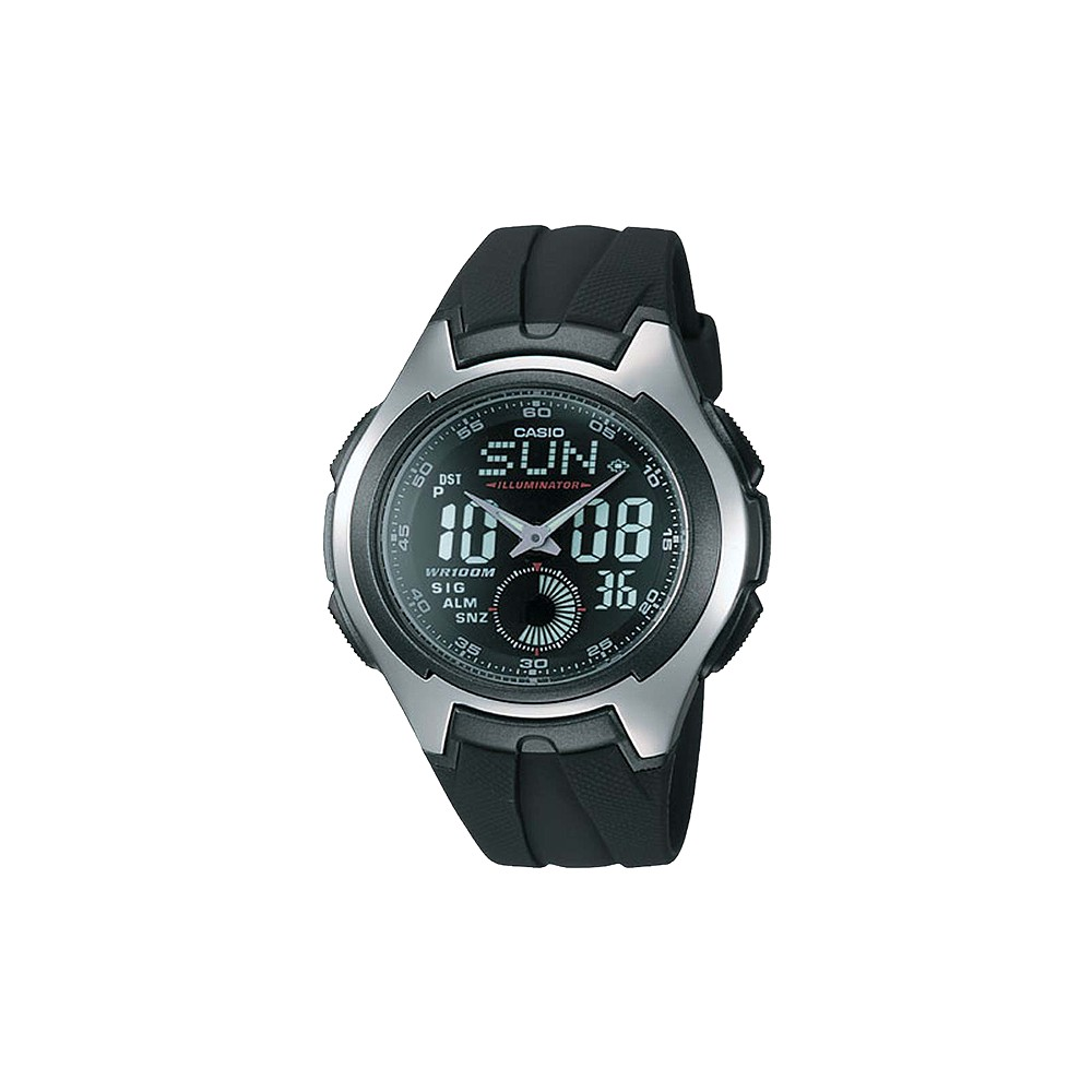 Image of Casio Men's Ana-Digi Sport Watch - Black (AQ160W-1BV), Size: Small