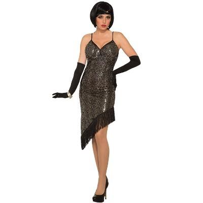 Forum Novelties Twilight Black Sequin Flapper Adult Costume