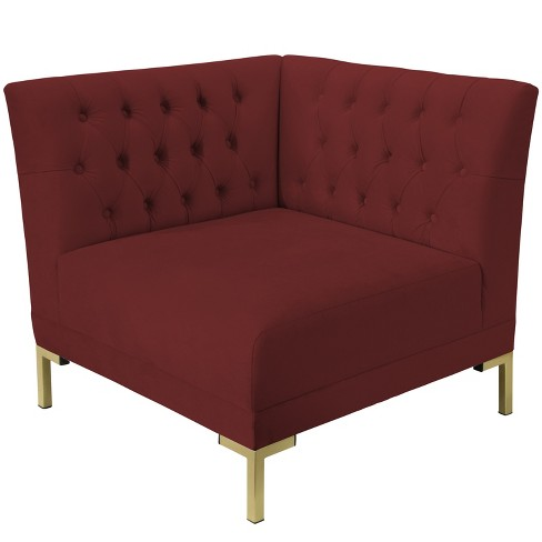 Audrey Diamond Tufted Corner Chair - Cloth & Co. - image 1 of 5