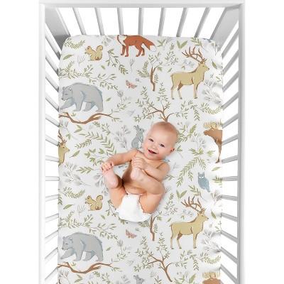 Sweet Jojo Designs Fitted Crib Sheet - Woodland Toile - Animal Print