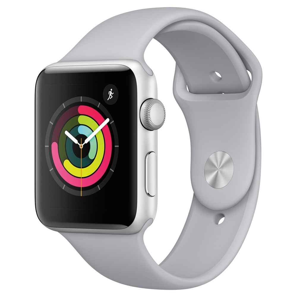 Apple Watch Series 3 (GPS) 42mm Aluminum Case Sport Band - Fog, Gray
