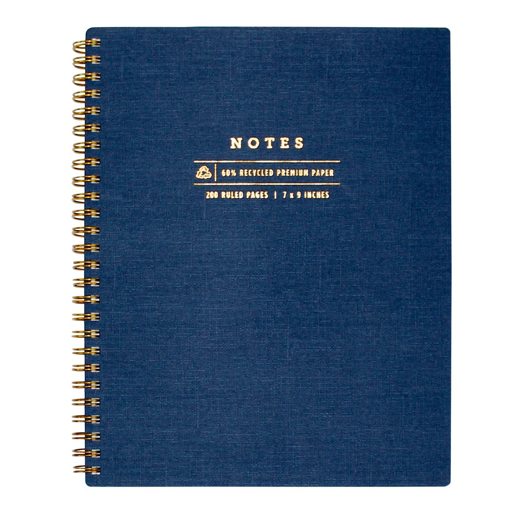 Image of greenroom Lined Journal Hardcover - Navy, Blue