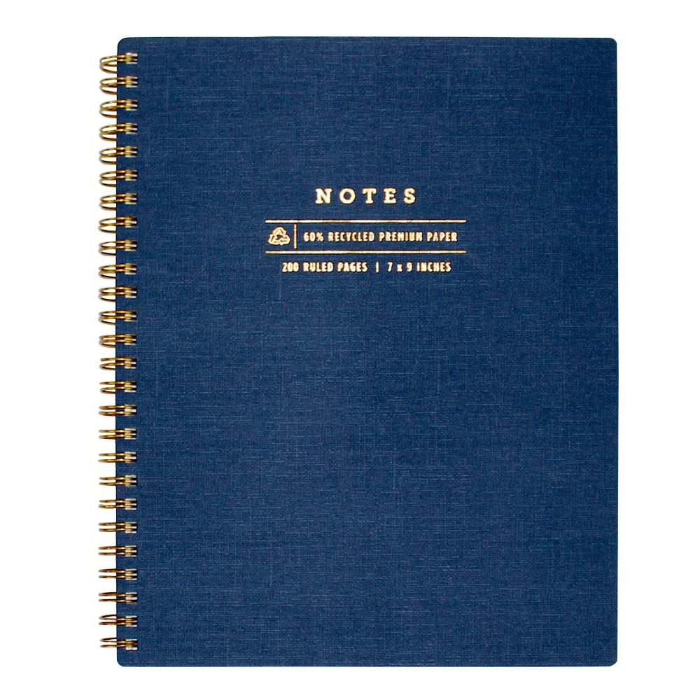 Image of greenroom Lined Journal Hardcover - Navy, Blue