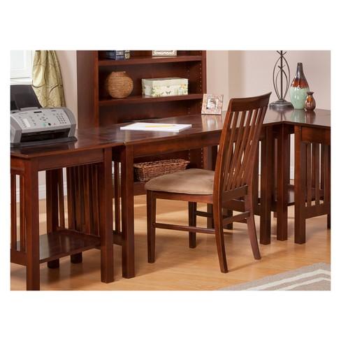Writing Desk Classic Mission Walnut Atlantic Furniture Target