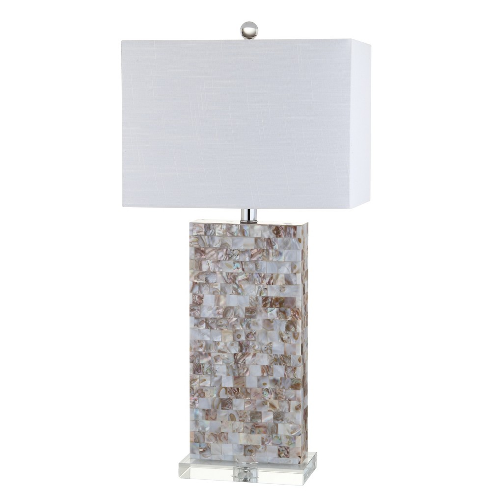 29 Cannon Seashell and Crystal Led Table Lamp Natural (Includes Energy Efficient Light Bulb) - Jonathan Y