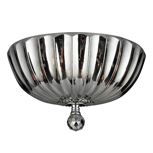 "World Wide Lighting Ceiling Light - Gray/Silver (17 X 17 X 8"") - image 1 of 1"