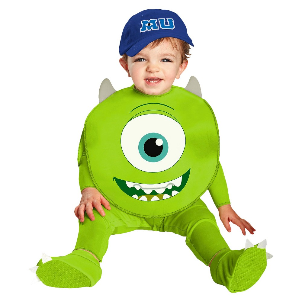 Monsters University Baby Mike Costume 12-18 M, Infant Unisex, Size: 12-18M, Green
