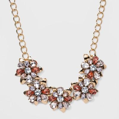 SUGARFIX by BaubleBar Chic Floral Statement Necklace – Pink