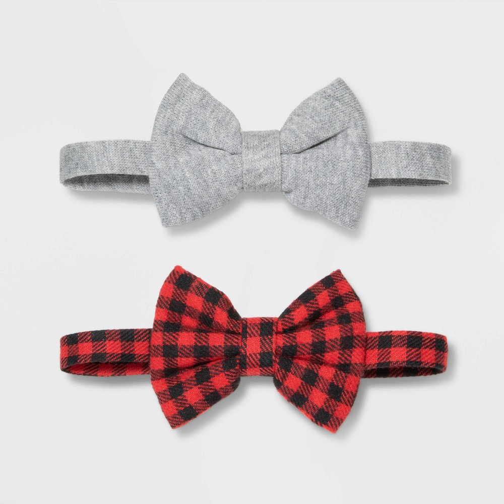 Image of Baby Boys' Buffalo Bow Tie Set - Cat & Jack Red, Toddler Boy's