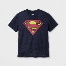 Star Silhouette Adult Ringer T Superman Shirt L