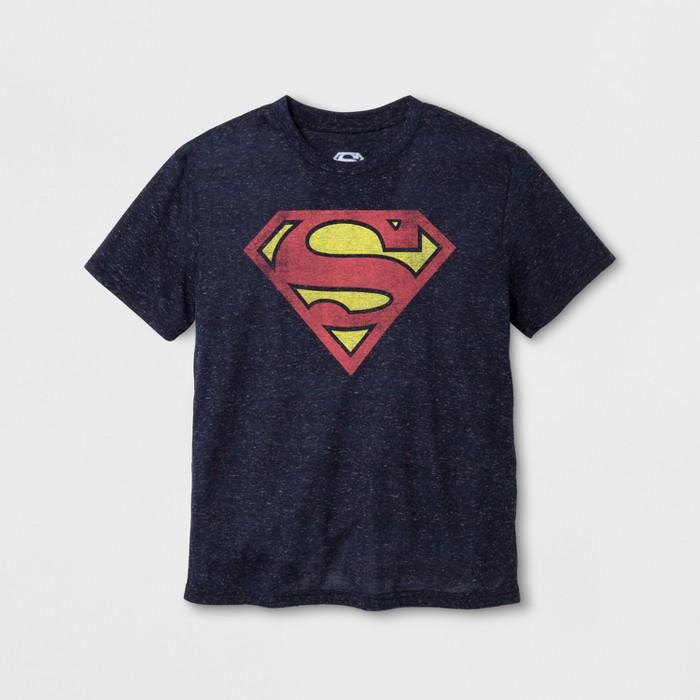 Boys' Superman Short Sleeve Graphic T-Shirt - Navy - image 1 of 1