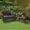 2pk Aurora Stripe Wicker Chair Cushions Sapphire - Arden Selections - image 2 of 2