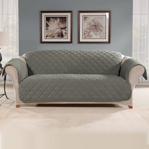 Suede Microfiber Sofa Furniture Protector Cover - Sure Fit - image 1 of 4