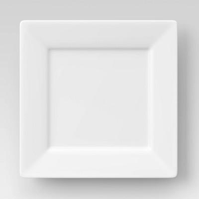 Square Porcelain Rim Dinner Plate 10.75  White - Threshold™