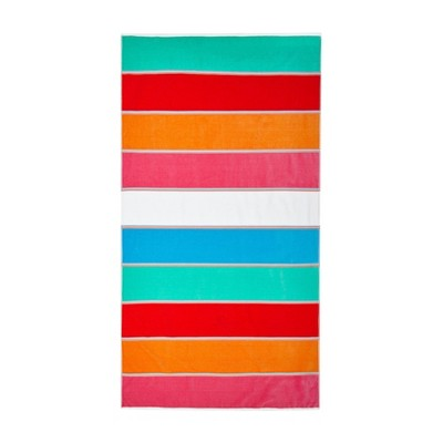 2pk Maya Beach Towel Set Orange/Blue - Caro Home