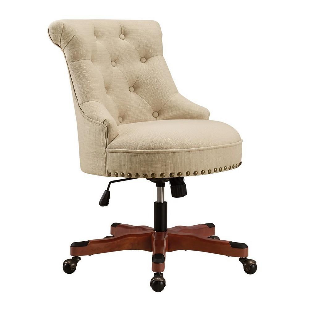 Sinclair Office Chair Beige - Linon
