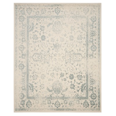 Ivory/Slate Medallion Loomed Area Rug 10'X14' - Safavieh