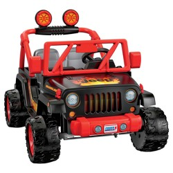 Power Wheels Tough Talking Jeep - Black/Red