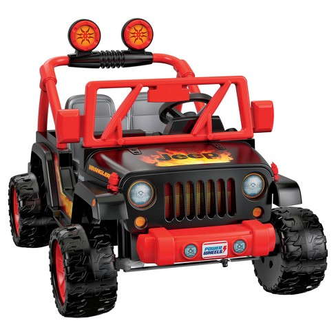 Power Wheels 12V Tough Talking Jeep Powered Ride-On - Black/Red - image 1 of 4